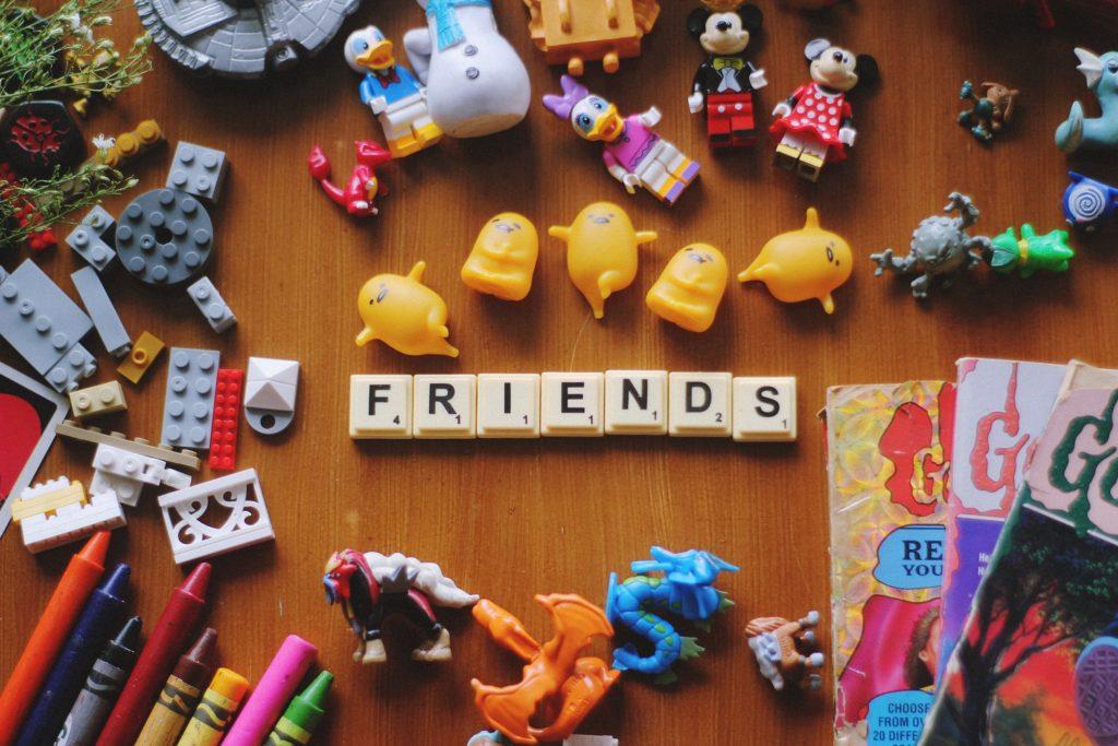 """FRIENDS"" Scrabble letters"